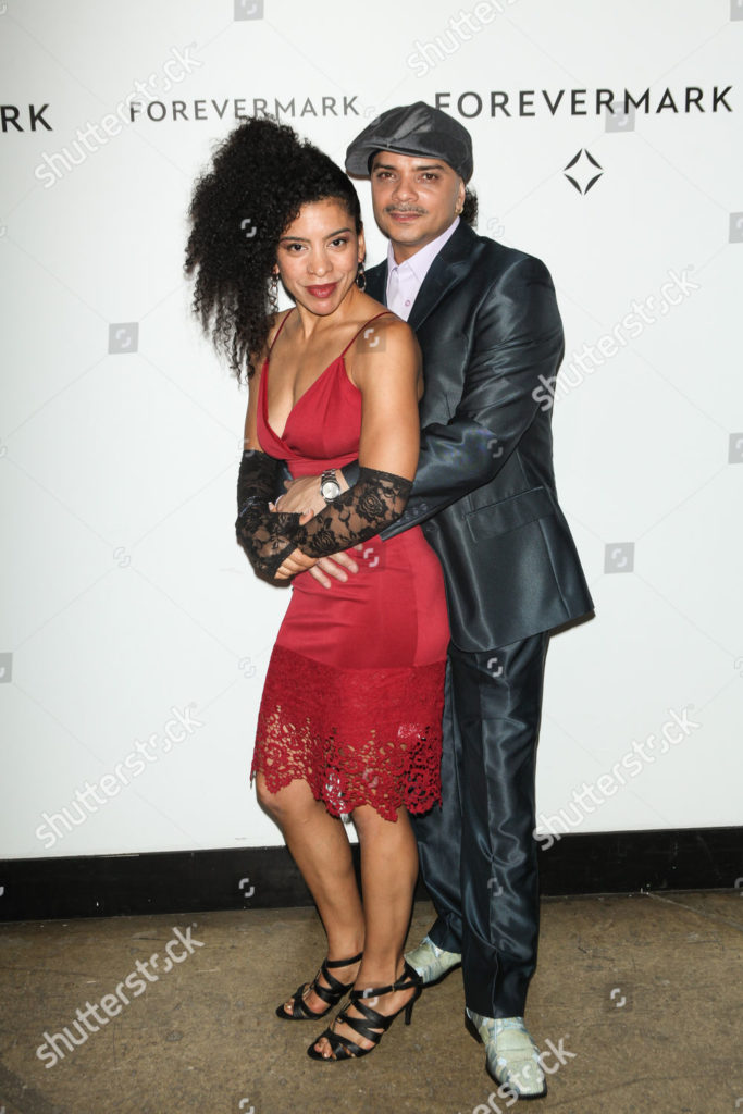 Mandatory Credit: Photo by Mediapunch/Shutterstock (4246941b) Ana 'Rokafella' Garcia and B-Boy Gabriel Kwikstep Forevermark #Holdmyhandforever Social Project Event Launch, New York, America   - 17 Nov 2014